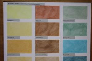Die Sumpfkalkfarbe lässt sich individuell lasieren