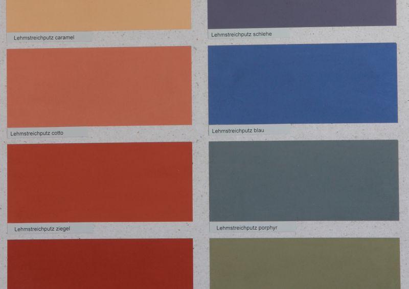 Die Lehmfarben von Kreidezeit gibt es als 12 unterschiedliche Volltonfarben